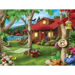 Puzzle  Master-Pieces-31574 Lakeside Retreat