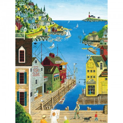 Puzzle  Master-Pieces-31675 XXL Teile - A Walk on the Pier
