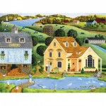 Puzzle  Master-Pieces-31728 XXL Teile - Heartland - The White Duck Inn