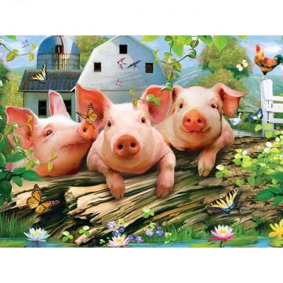 Puzzle Master-Pieces-31817 XXL Teile - Three Lil' Pigs