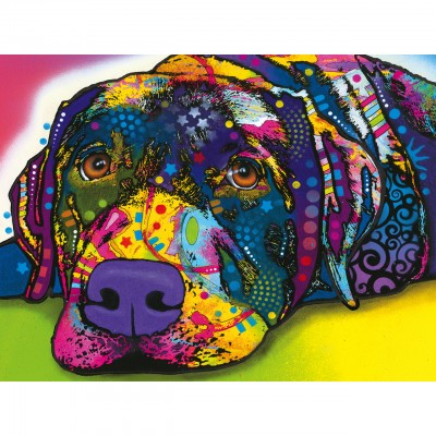 Puzzle  Master-Pieces-31823 XXL Teile - Dean Russo - My Dog Blue