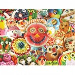Puzzle  Master-Pieces-31846 XXL Teile - Funny Face Food