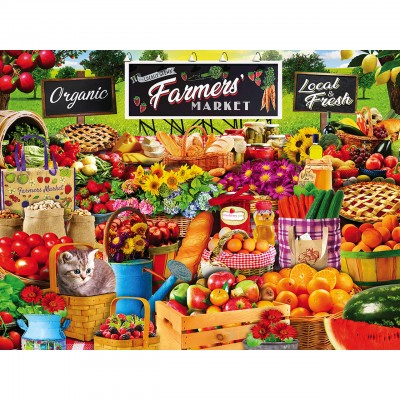 Puzzle  Master-Pieces-31868 XXL Teile - Farmers Market