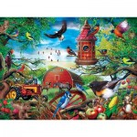 Puzzle  Master-Pieces-31916 XXL Teile - Farmland Frolic