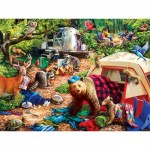 Puzzle  Master-Pieces-31997 XXL Teile - Campsite Trouble
