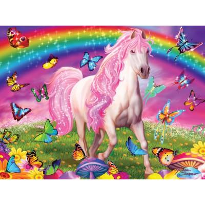 Puzzle  Master-Pieces-32003 XXL Teile - Glow in the Dark - Rainbow World