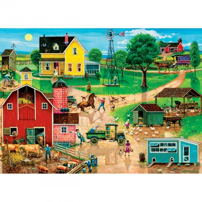 Puzzle Master-Pieces-32005 XXL Teile - After the Chores