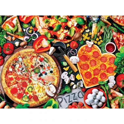 Puzzle  Master-Pieces-32108 XXL Teile - Viva la Pizza