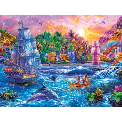 Puzzle  Master-Pieces-32121 XXL Teile - Tropics Paradise Found
