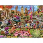Puzzle  Master-Pieces-32133 XXL Teile - Dog Gone Days