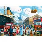 Puzzle  Master-Pieces-60346 Titanic Boarding