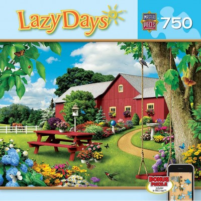 Puzzle  Master-Pieces-61404 Alan Giana - Lazy Days - Picnic Paradise
