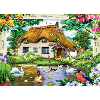 Puzzle  Master-Pieces-71404 Swan Cottage