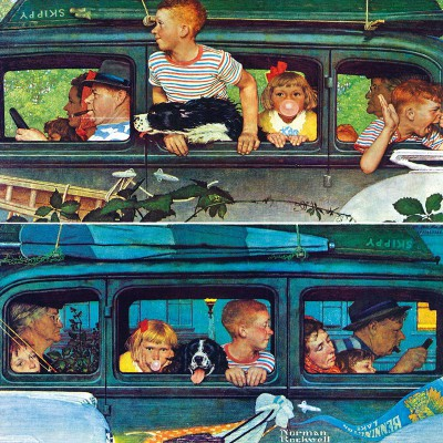 Puzzle  Master-Pieces-71508 Norman Rockwell: Coming and Going