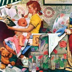 Puzzle  Master-Pieces-71509 Norman Rockwell: The Babysitter
