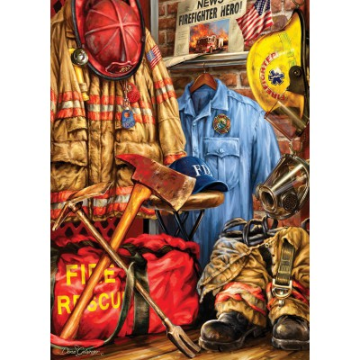 Puzzle  Master-Pieces-71511 Dona Gelsinger: Fire and Rescue