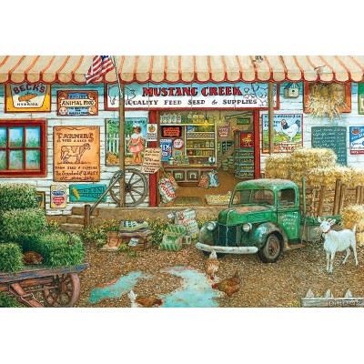 Puzzle  Master-Pieces-71664 Farm & Fleet Store By Janet Kruskamp