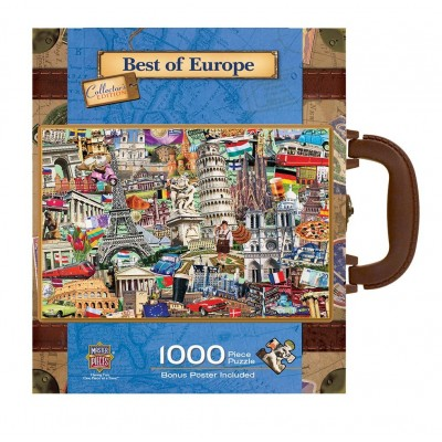 Master-Pieces-71672 Puzzle im Koffer - Best of Europe