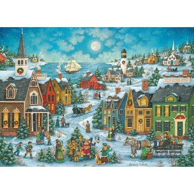 Puzzle  Master-Pieces-71674 Harbor Side Carolers