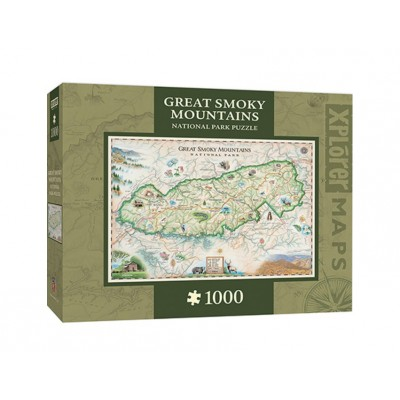 Puzzle  Master-Pieces-71703 Xplorer Maps - Great Smoky Mountains