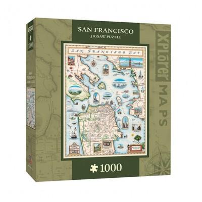 Puzzle  Master-Pieces-71705 Xplorer Maps - San Francisco Bay