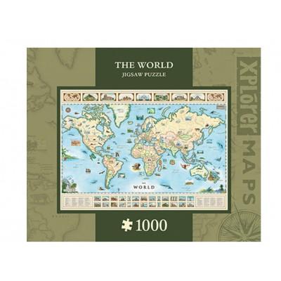 Puzzle  Master-Pieces-71710 Xplorer Maps - The World