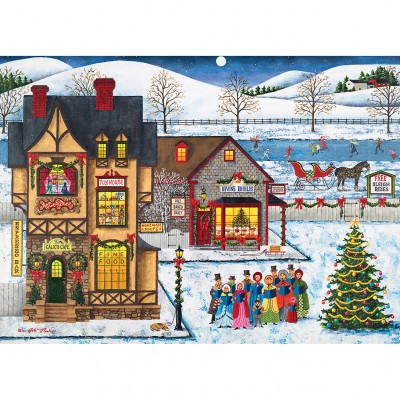 Puzzle Master-Pieces-71744 Main Street Carolers