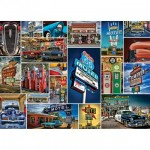 Master-Pieces-71772 Puzzle im Koffer - Route 66