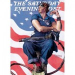 Puzzle  Master-Pieces-71805 Norman Rockwell - Rosie the Riveter