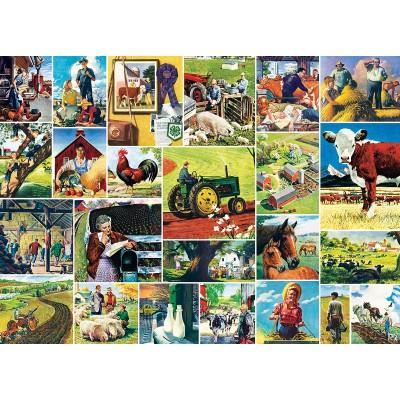 Puzzle  Master-Pieces-71808 Farmland Collage