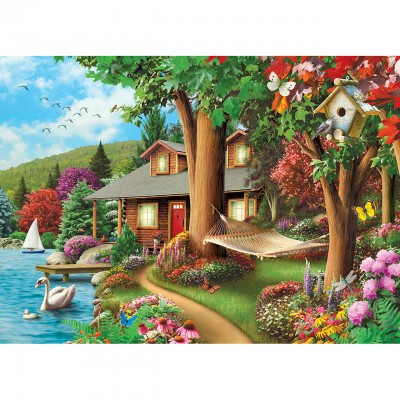 Puzzle  Master-Pieces-71809 Around the Lake