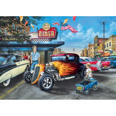 Puzzle  Master-Pieces-71811 Hot Rods and Milkshakes