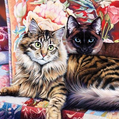 Puzzle  Master-Pieces-71814 Cat-Ology - Raja and Mulan