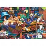 Puzzle  Master-Pieces-71827 XXL Teile - Knittin Kittens