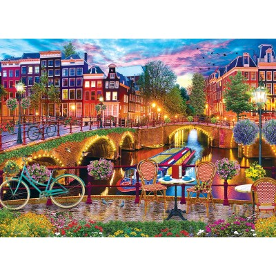 Puzzle  Master-Pieces-71926 Amsterdam Lights