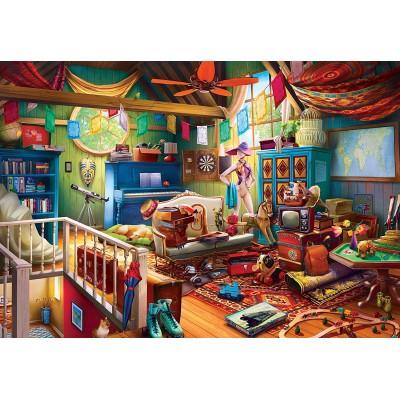 Puzzle Master-Pieces-71962 XXL Teile - Attic Treasures