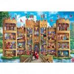 Puzzle  Master-Pieces-71964 XXL Teile - Medieval Castle