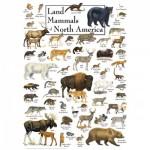 Puzzle  Master-Pieces-71973 Land Mammals of North America