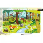 Nathan-86011 Frame Puzzle - Forest Animals