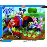 Nathan-86101 Puzzle 35 Teile Rahmenpuzzle - Mickey: Mickey und seine Freunde im Garten