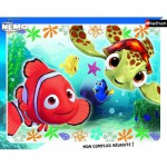 Nathan-86106 Puzzle quadratisch - Nemo und Squiz