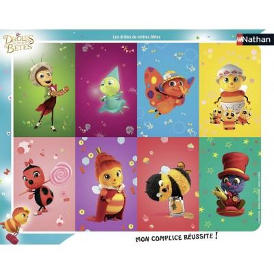 Nathan-86124 Rahmenpuzzle - Drôles de Petites Bêtes