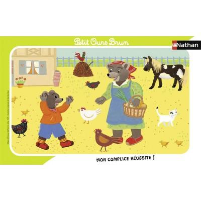 Nathan-86133 Rahmenpuzzle - Der Kleine Braunbär
