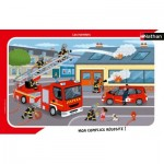Nathan-86138 Rahmenpuzzle - Feuerwehrleute