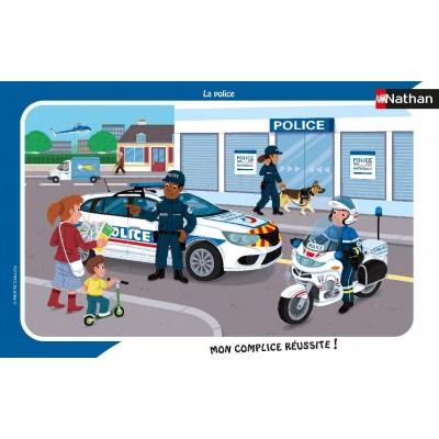 Nathan-86139 Rahmenpuzzle - Polizei