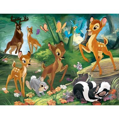 Nathan-86281 Puzzle 30 Teile XXL - Bambi: Familienausflug