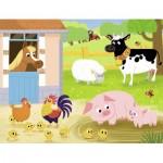 Puzzle  Nathan-86365 Tiere auf dem Bauernhof