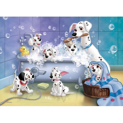 Puzzle  Nathan-86612 101 Dalmatiner: Jetzt wird gebadet !