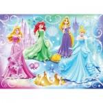 Puzzle  Nathan-86720 Disney Prinzessinnen: Funkelnden Prinzessinnen