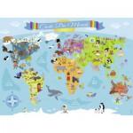 Puzzle  Nathan-86806 XXL Teile - Weltkarte (auf Französisch)